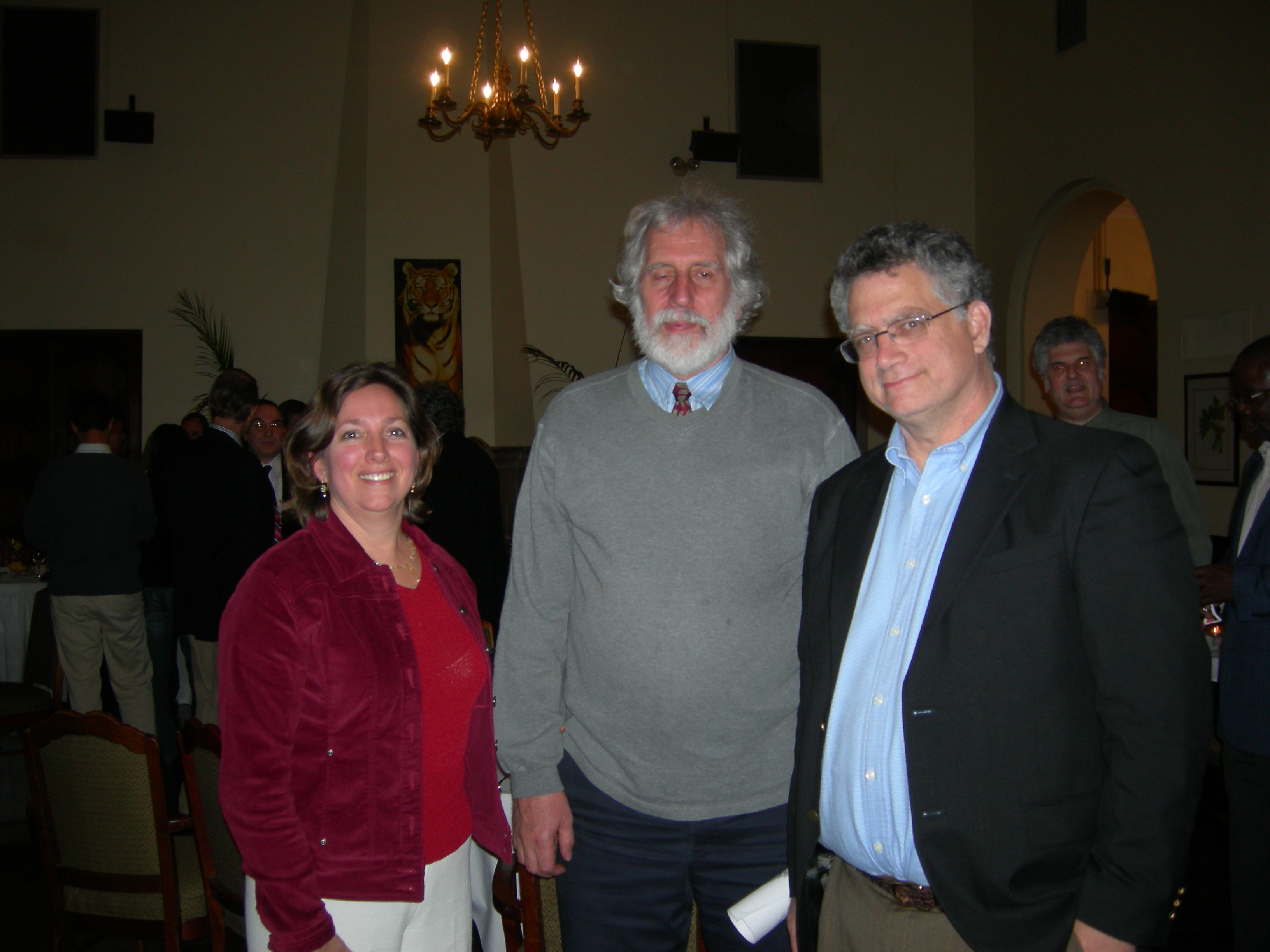 Claudia and Pat Gilmer, and Neal Stoltzfus
