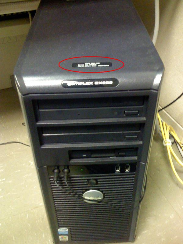 New Optiplex Serial