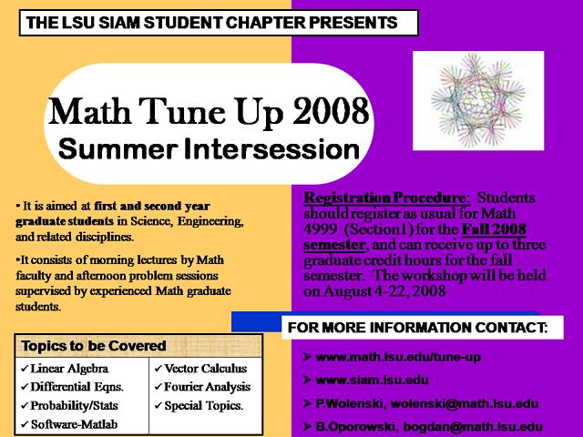 Math Tune-up 2008