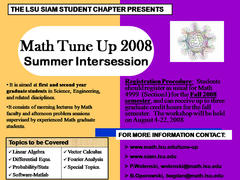 Math Tune-up 2008