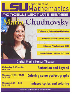 Porcelli Lecture Poster Maria Chudnovsky