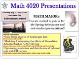 Math Clinic presentation poster