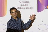 Pramod Achar giving a talk