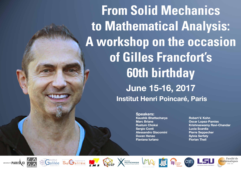 Solid Mechanics Workshop Paris 2017