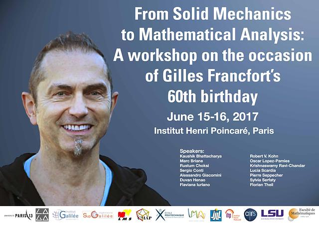 Solid Mechanics Workshop Paris 2017