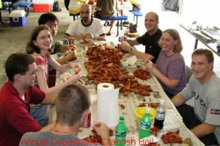 Department crawfish boil