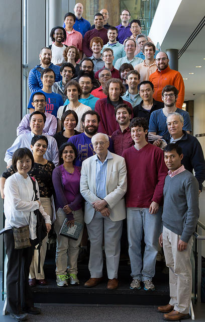 Jean-Pierre Serre with LSU faculty and graduate students