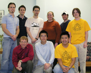 Our victorious teams for the 2005 MAA Sectional Meeting competition