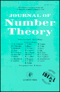 Journal of Number Theory Cover