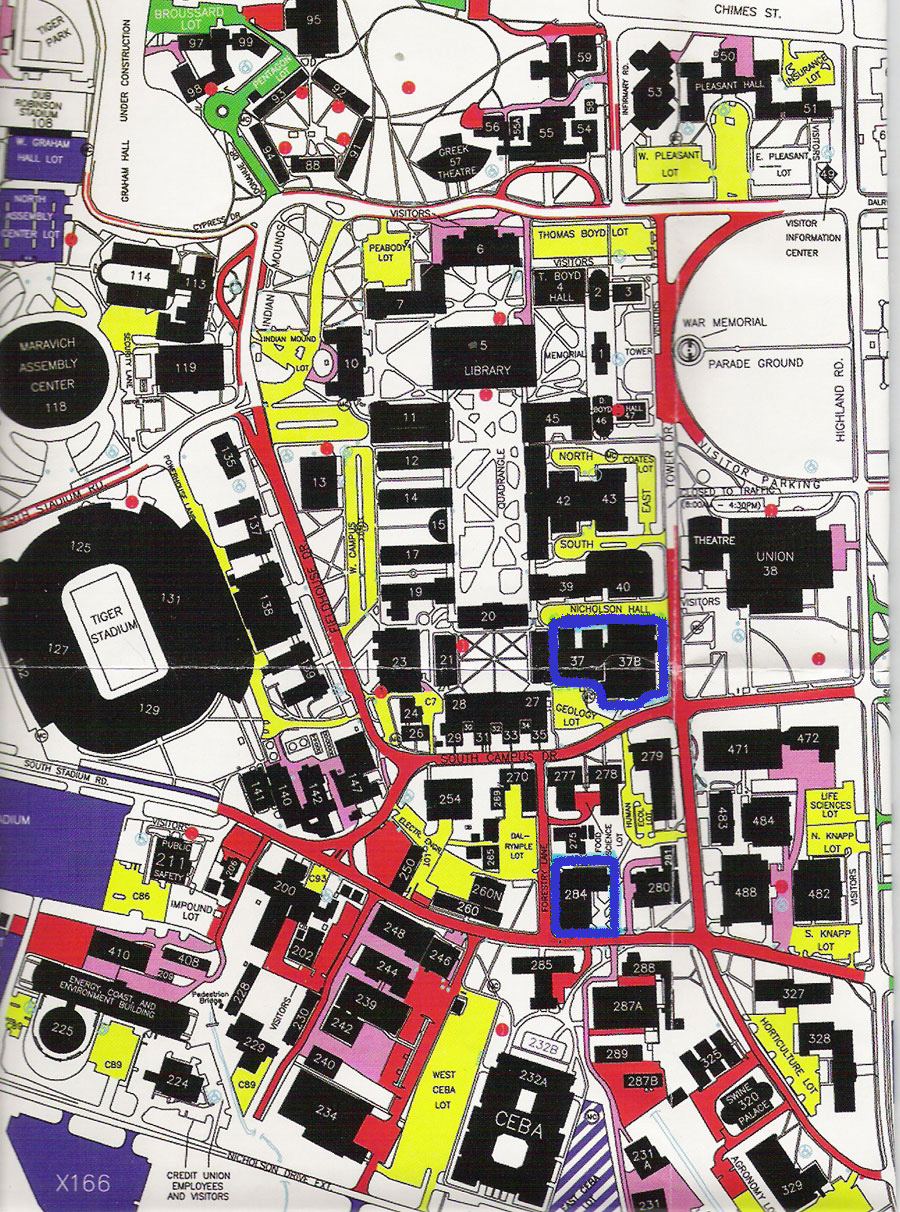 Lsu Campus Map 2016.Lsu Mathematics Contest For High School Students Directions To